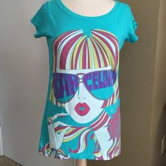 Custo Barcelona T NWT! Custo Barcelona T shirt! New with tags!! In style chic girl on the front! Custo Barcelona Tops Tees - Short Sleeve