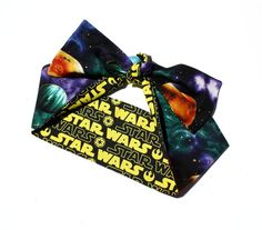 Vintage Inspired Head Scarf, Star Wars, Reversable, Solar System, Outer Space