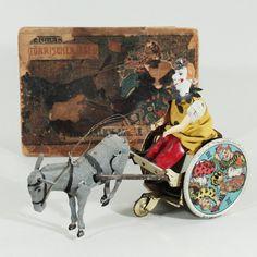 """Lehmann - Blechspielzeug Gespann """"Der störrische Esel / The bulky Mule"""", gem. Made in Germany Bild"""