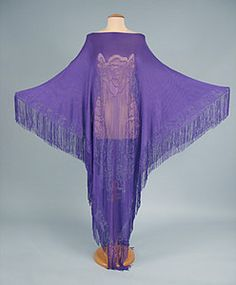 Fringed purple caftan by Pucci, Italian, 1970s.