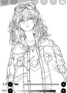 Japanese Pop Art, Scary Drawings, Anime Lineart, Poses References, Cute Art Styles, Digital Painting Tutorials, Anime Sketch, Boy Art, Manga