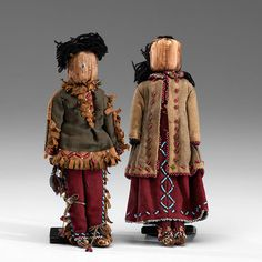Iroquois Corn Husk Doll Family (9/26/2014 American Indian: Live Salesroom Auction)