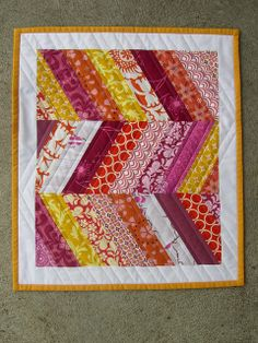 """""""Gettin' Ziggy With It"""" mini quilt by Trio Stitch Studio, via Flickr"""
