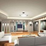 Luxury family room for Home Interior design with home theater