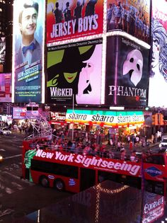 Wonderful Times Square! I've seen 2 of these shows (Wicked & Phantom of the Opera)!! <3