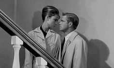 Audrey Hepburn & George Peppard, Breakfast at Tiffany's, 1961 George Peppard, Audrey Hepburn, Classic Hollywood, Old Hollywood, Blake Edwards, Sundance Film, Breakfast At Tiffanys, Romance, British Actresses