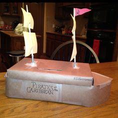 Pirate ship Valentine's box