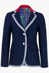 Vilagallo Boston Jacket - Navy Print
