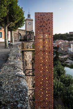 A 20-metre-high elevator next to a Catalonian cliffside connects the old and new parts of a town.