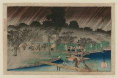 Shower at Tadasugawara (Tadasugawara no yûdachi), from the series Famous Views of Kyoto (Kyôto meisho no uchi)