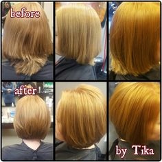 Correction cut before and after