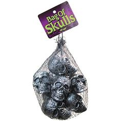 For sale Fun World Costumes Charcoal Bag of Skulls for  Halloween Gifts Idea Sales for  #Halloween Gifts Idea Promotion