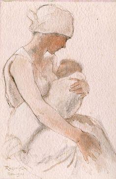 belgianpaintings: Armand Rassenfosse - Maternité, 1921