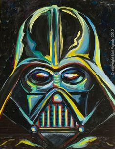Darth Vader 11x14 original oil painting. By California artist ©️️ Lani Woods…