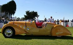 1938 Peugeot 402 Darl'mat Roadster - yellow - svl Peugeot France, Antique Cars, Sporty, Yellow, Vehicles, French, Autos, Cars, Places