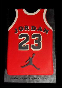 Custom Cake Designs Cake Decorator Perth | Michael Jordan Sports Top Cake