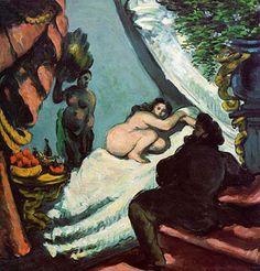 Une moderne Olympia (Le Pacha), 1869-70, Cézanne, référence au Déjeuner sur l'herbe de Manet