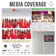We are all around you. #IndianPrincess #PressCoverage #IP2016 #designer #fashion #modelling #inspiration #appreciation #beauty #love #ramp #runway #Superexcited