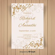 306 Best Freepik Images Vector Free Wedding Invitation