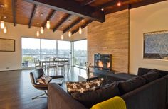Seattle Modern Living Room Design by Build LLC