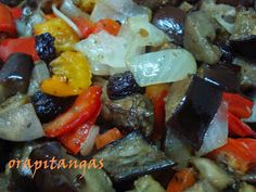 ora, pitangas!!!: caponata de berinjela do nick Fruit Salad, Food And Drink, Appetizers, Pasta, Adora, Tasty Food Recipes, Health Recipes, Antipasto, Soups
