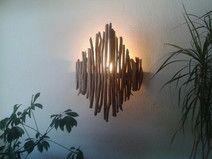 Treibholz Lampe / Wandlampe