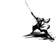 Rurouni Kenshin Shishio Makoto anime black and white grayscale wallpaper (#415671) / Wallbase.cc