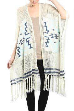 Aztec Fringe Vest – Moonshine & Lace