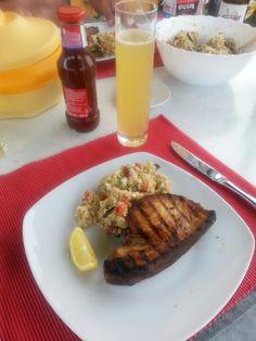 Gegrillter Schwertfisch mit Couscoussalat