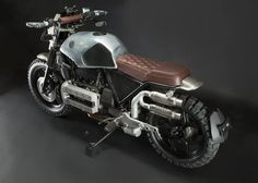 BMW Scrambler by (h) garage Moto Cafe, Cafe Bike, Bmw Cafe Racer, Cafe Racer Build, Bmw Motorcycles, Custom Motorcycles, Custom Bikes, Motorcycle Equipment, Tracker Motorcycle