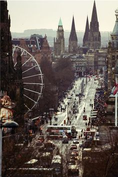 Princes Street - Edinburgh, Scotland, UK