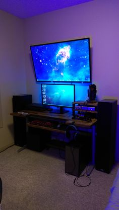 Just added a TV to my audiophile battlestation!
