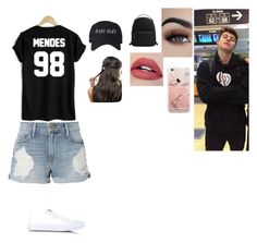 """Me if I were dating Shawn Memdes❤️"" by sammych20 ❤ liked on Polyvore featuring WithChic, Frame, Converse, MANGO and ASOS"