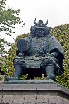 Statue of Takeda Shingen in front of Kofu Station  #Samurai