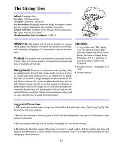 Printables The Giving Tree Worksheets the giving tree imaginative writing and lesson plans on pinterest tree