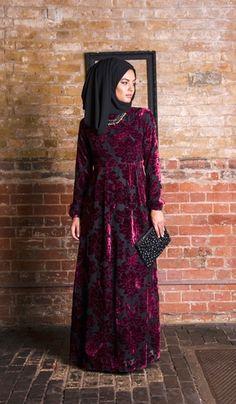 Aysha Velvet Dress Front