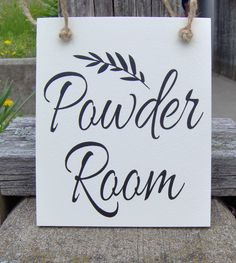Powder Room Door Signs perfect party or event signs. Signs for your home or business are our specialty. Come visit our shop. Bathroom Door Sign, Brown Paint, Business Signs, Vinyl Lettering, Door Signs, Perfect Party, Powder Room, Custom Homes, Personalized Gifts