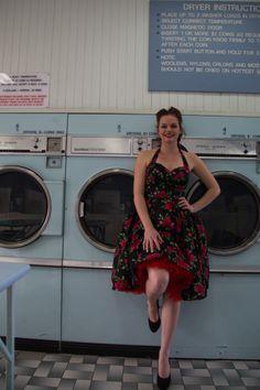 Nancy at the laundromat.on Oakwood Street