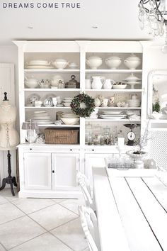 love these hutches - especially the pull out shelving!