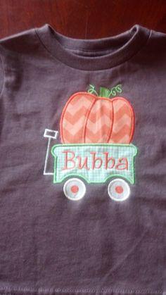 Pumpkin Wagon Shirt by MJDesignsShop on Etsy