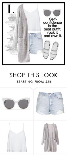 """Untitled #31"" by greta-gelunaite ❤ liked on Polyvore featuring Blanc & Eclare, Topshop, Alice + Olivia and Alexander Wang"