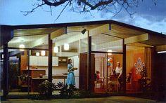 Eichler Homes birthday party postcard Sunnyvale CA via Flickr