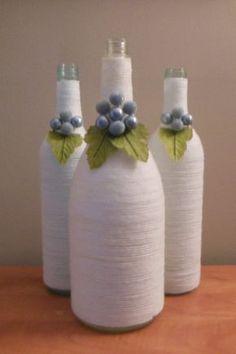 White Wine Bottles Upcycled Wine Bottles by ReginesPartyBoutique