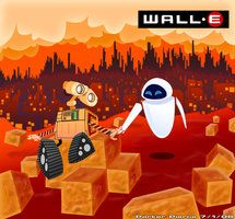 WallE and Eve by ~IrvingBrew on deviantART (IrvingBrew, 2008)