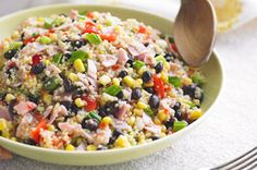 Quinoa Salad recipe - I think I might have to try this.