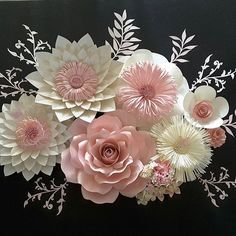 #paperflowers #handmade #floresdepapel #hechoamano #decor #paperflowersbackdrop #paper #instaflowers #crafting #papercraft #diypaperflowers #diy #baptism #christeningdecor #partydecoration #paperflorist #mountairync #northcarolina #pink #pinkflowers
