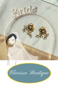Know who the bride is at the bachelorette party, or accessorize for the bridal shower with this rose gold bride headband and golden rose bridal stud earrings. Bridal earrings in gold with a dimensional rose and drop vine accented with pearls and rhinestones.  Visit our Website! Wedding Accessories.  #hairbridal #weddingbridalhair #clarissaboutique #weddinginspiration #weddingpittsburgh #bridalaccessories#weddingearrings #bridalearrings  #weddingplanning #bridalhairjewelry #weddingaccessories