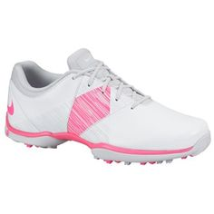 Nike Ladies Delight V Golf Shoes: Details: Water-resistant synthetic leather upper with sporty design aesthetic… #GolfApparel #GolfShoes