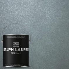 Ralph Lauren, Blue Zircon Silver Metallic Specialty Finish Interior Paint, at The Home Depot - Mobile Ralph Lauren Paint Metallic, Ralph Lauren Paint Colors, Interior Paint Colors, Paint Colors For Home, Silver Paint, Metallic Paint, Paint Color Pallets, Paint Color Combos, Color Schemes
