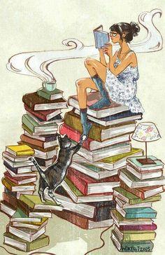 Aggiratevi per le biblioteche, arrampicatevi sulle pile di libri come fossero scalini, odorate i libri come fossero profumi, indossateli come se fossero cappelli, sulle vostre teste pazze. Che possiate essere innamorati per i prossimi ventimila...